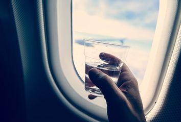 Drinking; Airplane