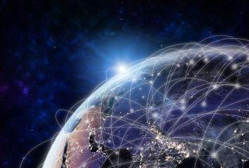 Internet Nodes Around The World