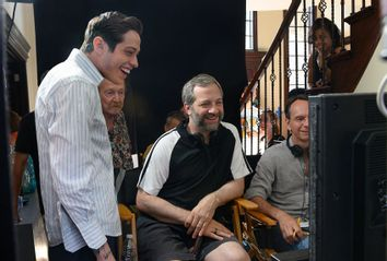 Pete Davidson & Judd Apatow behind the scenes of