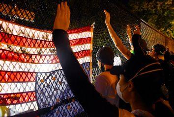 Lafayette Square; Protesters