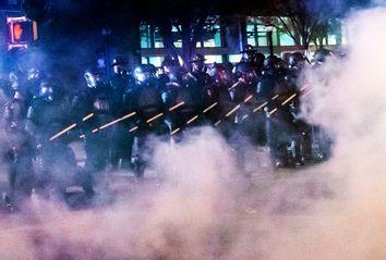 Police; Tear Gas; Atlanta
