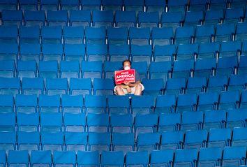 Empty Seats at Donald Trump's rally in Tulsa, OK