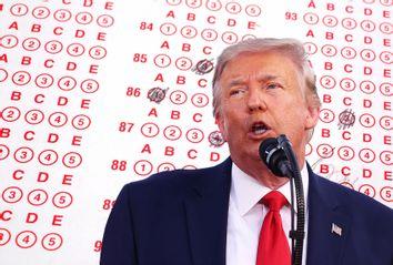Donald Trump; SAT Test