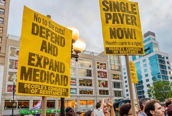 Medicaid; Medicare; protest