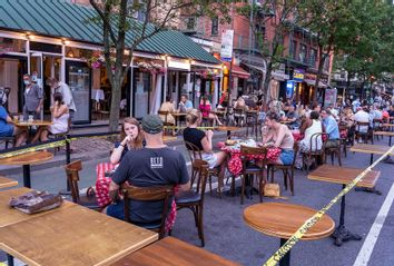 NYC; Outdoor Seating On The Street; Coronavirus; Reopening New York