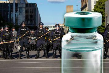 Riot Police; Medicine Vial