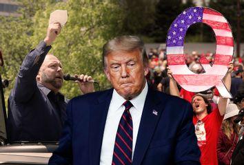 Donald Trump; Alex Jones; QAnon Supporter