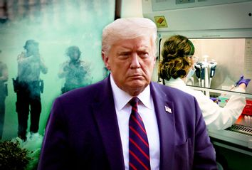 Donald Trump; Vaccine Lab; Tear Gas; Police; COVID-19