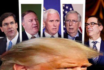 Mark Esper; Mike Pompeo; Mike Pence; Mitch McConnell; Steve Mnuchin; Donald Trump