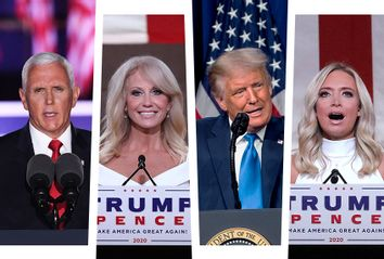Mike Pence; Kellyanne Conway; Donald Trump; Kayleigh McEnany