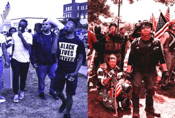 Black Lives Matter; Left; Patriot Prayer; Right