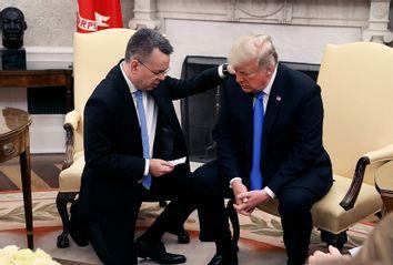 U.S. President Donald Trump and American evangelical Christian preacher Andrew Brunson