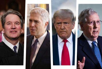 Brett Kavanaugh; Neil Gorsuch; Donald Trump; Mitch McConnell