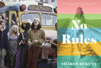 No Rules by Sharon Dukett; Hippies standing in front of a mini-bus