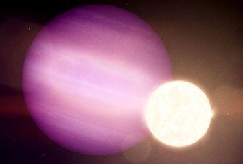Planet hugging a white dwarf star