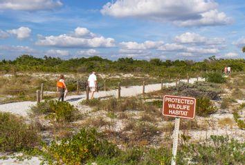 A protected wildlife habitat