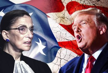 Ruth Bader Ginsburg and Donald Trump