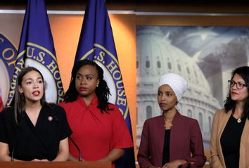 Alexandria Ocasio-Cortez; Ayanna Pressley; Ilhan Omar; Rashida Tlaib