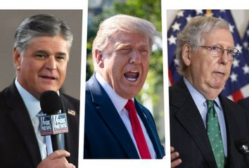 Sean Hannity, Donald Trump and Mitch McConnell