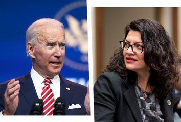 Joe Biden; Rashida Tlaib