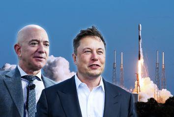 Jeff Bezos; Elon Musk; SpaceX