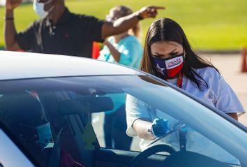 Houston, Texas drive-through mail ballot drop off