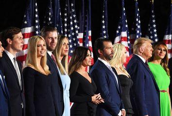 Melania Trump; Donald Trump; Tiffany Trump; Donald Trump Jr.; Kimberly Guilfoyle; Lara Trump; Eric Trump; Ivanka Trump; Jared Kushner