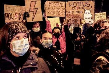Poland; Reproductive Rights Protest