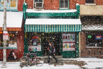 Small Business Storefront in Winter