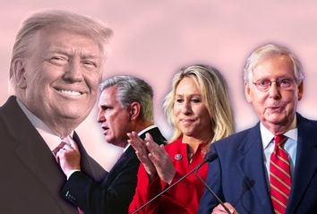 Donald Trump; Kevin McCarthy; Marjorie Taylor-Greene;  Mitch McConnell