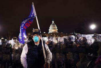 National Guard; Washington DC Police; Trump Supporter