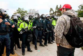 Washington DC Police; Trump Supporter