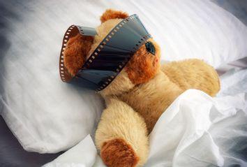 Dreaming teddy bear