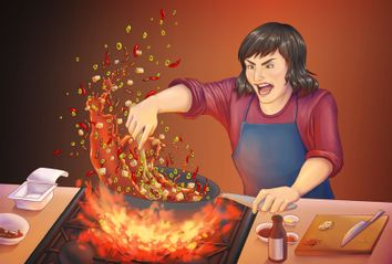 Cooking Mapo Tofu while angry