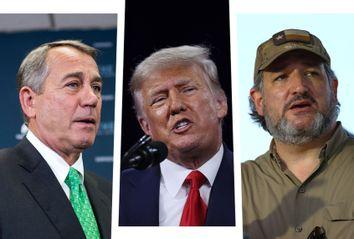 John Boehner; Donald Trump; Ted Cruz