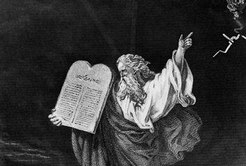Moses carrying Ten Commandments