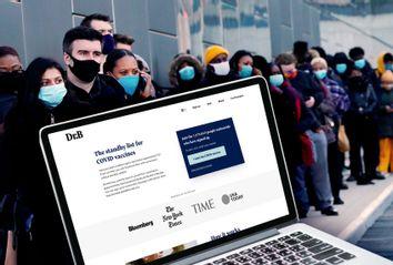 Dr. B website; Covid vaccine line