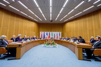 US Secretary of State John Kerry attends an Iran nuclear meeting alongside world leaders in Vienna, Austria.