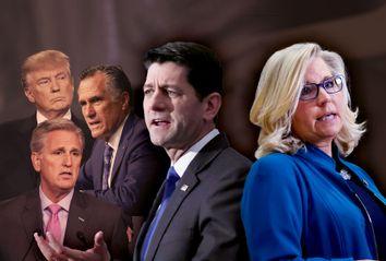 Paul Ryan; Liz Cheney; Donald Trump; Mitt Romney; Kevin McCarthy