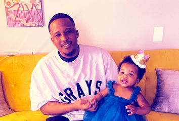 D Watkins and his daughter