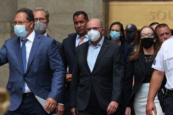 Allen Weisselberg, Trump Organization CFO, leaves Manhattan Criminal Court after his arraignment in State Supreme Court on July 01, 2021