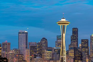 The Space Needle and downtown Seattle