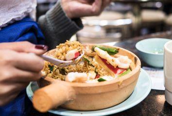 Seafood rice claypot