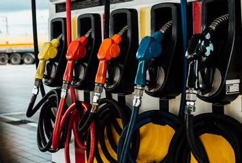 Gas pump in gas station