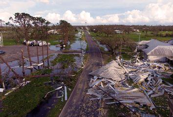 Hurricane Ida devastation in Louisiana