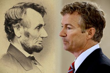 Image for Rand Paul completely mangles Lincoln