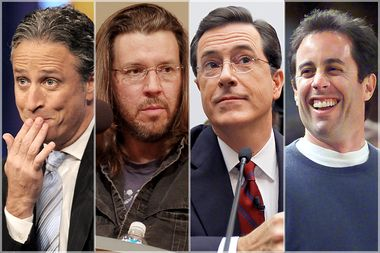 Image for Irony, sincerity, normcore: Jon Stewart, Stephen Colbert, David Foster Wallace and the end of rebellion