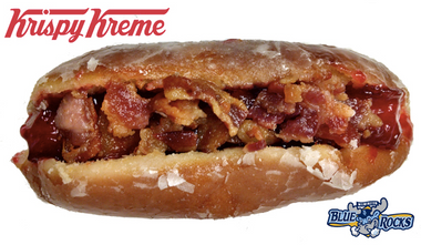 Image for Krispy Kreme's latest monstrosity — a bacon-covered hotdog in a donut bun — is clearly a sign of the apocalypse