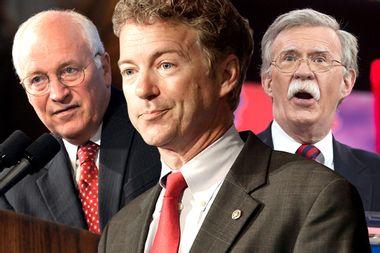 Dick Cheney, Rand Paul, John Bolton