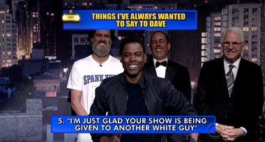 Image for Jerry Seinfeld, Tina Fey, Chris Rock and others roast Letterman in his last Top Ten list